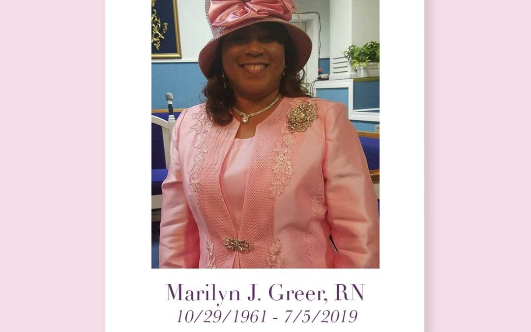 In Memorium: Marilyn Greer